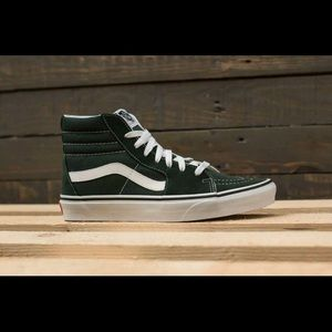 Vans sk8 hi scarab/white skate shoes
